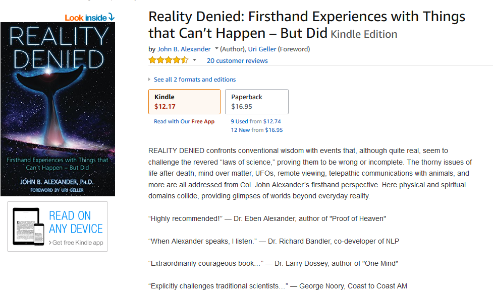 Screenshot-2018-5-18 Reality Denied Firsthand Experiences with Things that Can't Happen - But Did - Kindle edition by John [...]